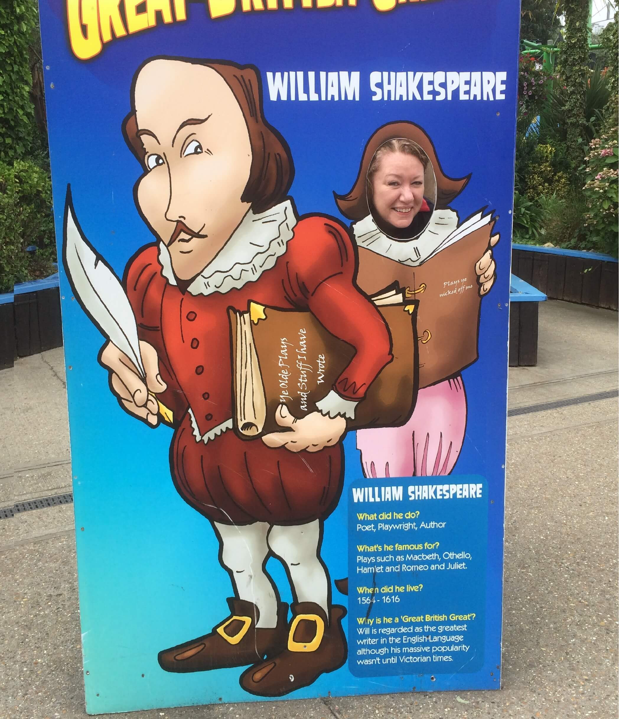 Nexus staff member, Karina, posing as William Shakespeare