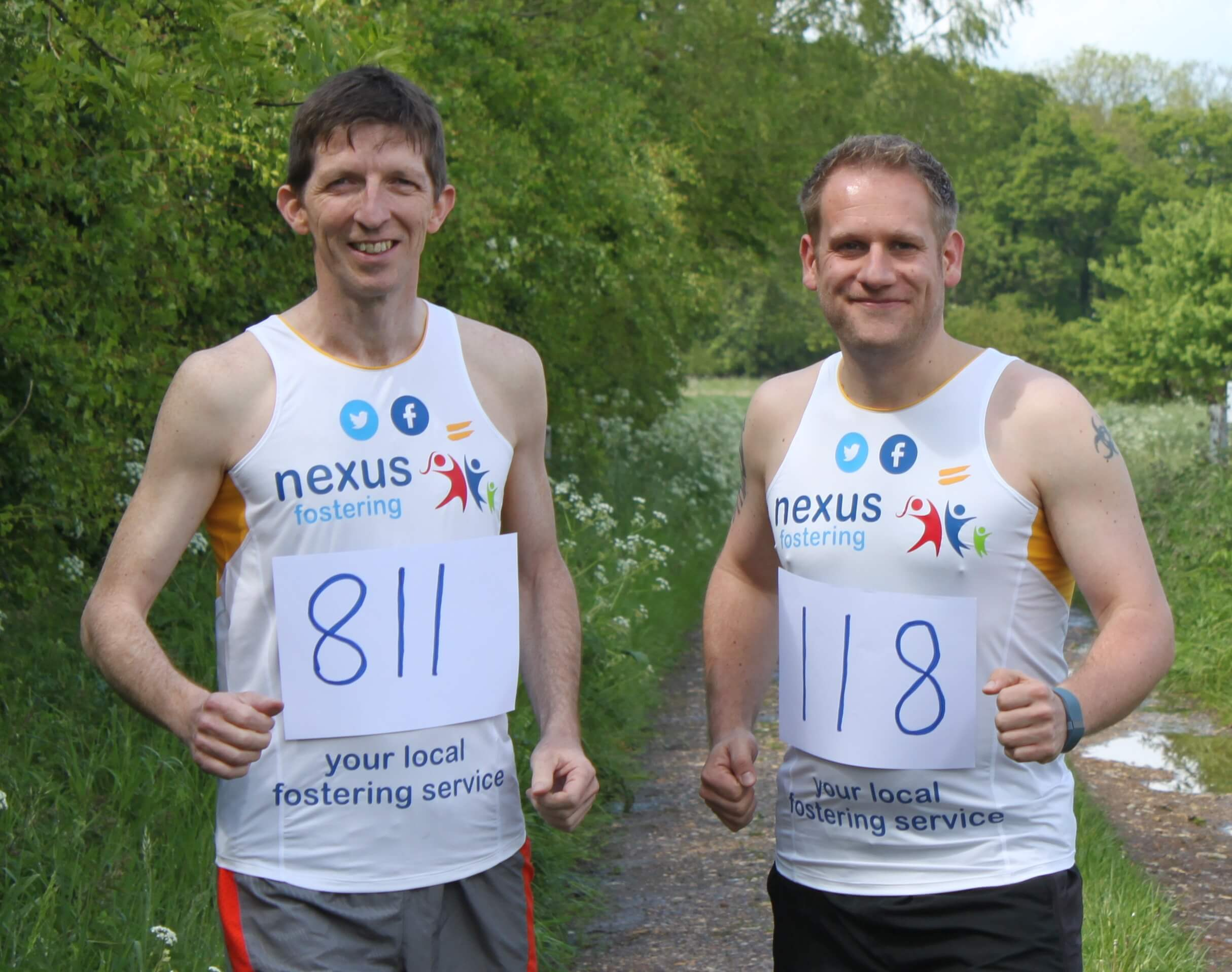 Steve and Rob in training for their runs
