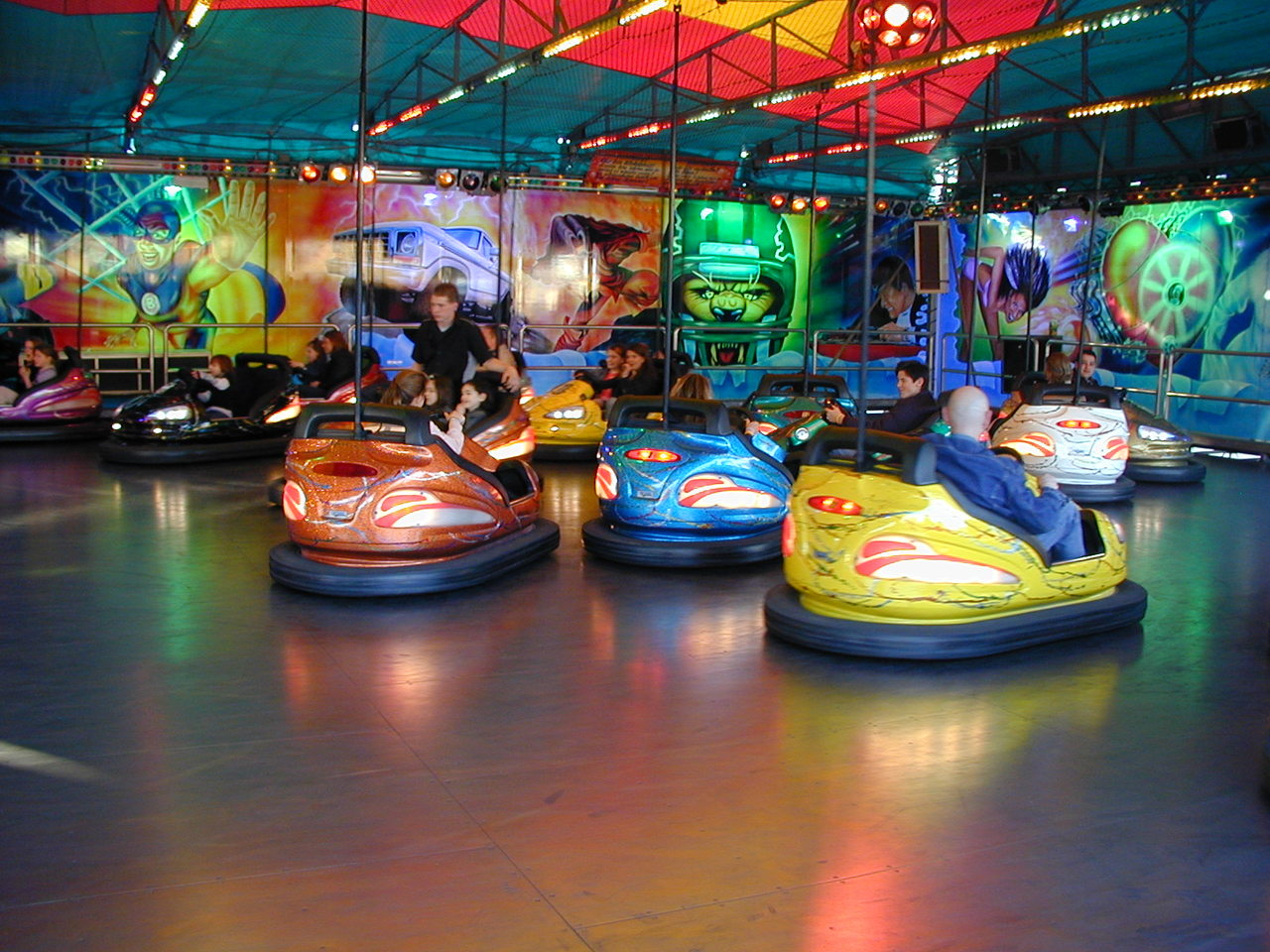 Photo of bumper cars